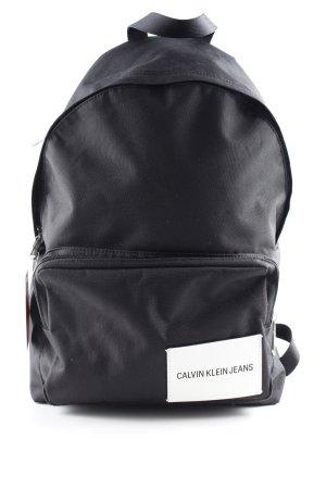 Calvin Klein Jeans Schulrucksack schwarz-weiß Casual-Look