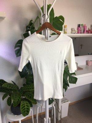 Calvin Klein Jeans Shirt aus Rippenstrick M/38 - Off White