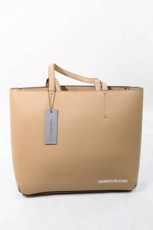 Calvin Klein Jeans Shopper in Beige