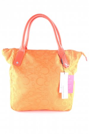 Calvin Klein Jeans Shopper neonorange Monogram-Muster Casual-Look