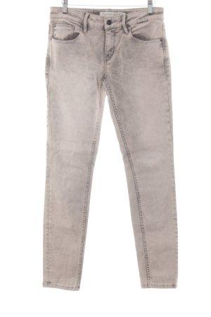 Calvin Klein Jeans Skinny Jeans altrosa-grau Inside-Out-Druck Casual-Look