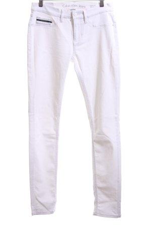 Calvin Klein Jeans Skinny Jeans weiß Casual-Look