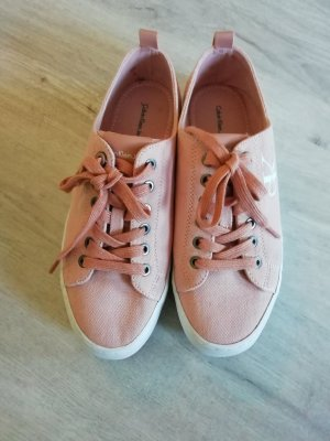 Calvin Klein Jeans Lace-Up Sneaker white-pink