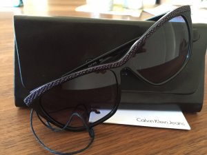 Calvin Klein Square Glasses black-lilac synthetic material
