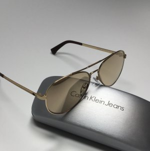 Calvin Klein Jeans Aviator Glasses gold-colored