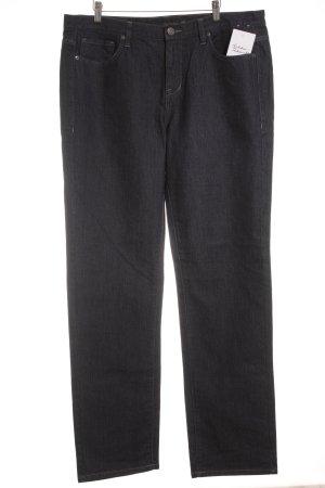 Calvin Klein Jeans Straight-Leg Jeans dunkelblau Street-Fashion-Look