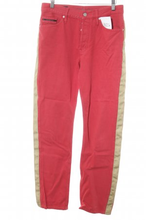 Calvin Klein Jeans Straight-Leg Jeans goldfarben-rot Street-Fashion-Look