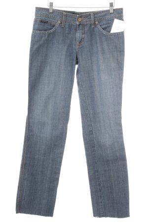 Calvin Klein Jeans Straight-Leg Jeans graublau schlichter Stil