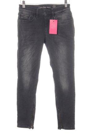 Calvin Klein Jeans Stretch Jeans grau Casual-Look