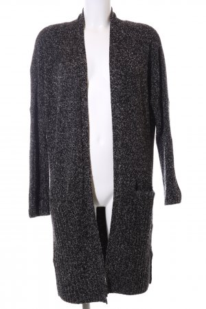 Calvin Klein Jeans Strick Cardigan schwarz-weiß meliert Casual-Look
