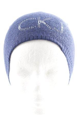 Calvin Klein Jeans Strickmütze blau Glitzer-Optik
