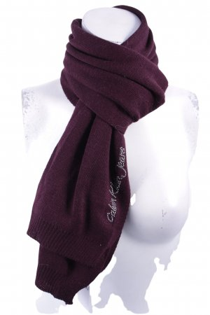 Calvin Klein Jeans Gebreide sjaal bordeaux klassieke stijl