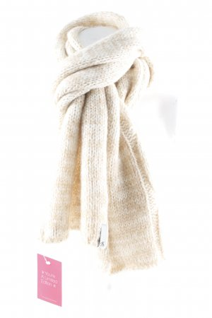 Calvin Klein Jeans Knitted Scarf cream-camel flecked casual look