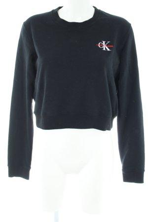 Calvin Klein Jeans Sweatshirt noir style décontracté