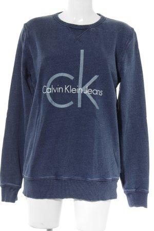 Calvin Klein Jeans Sweatshirt dunkelblau-hellgrau meliert Casual-Look
