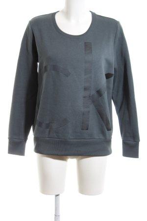 Calvin Klein Jeans Sweatshirt grün-schwarz meliert Casual-Look