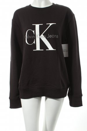 Calvin Klein Jeans Sweatshirt schwarz klassischer Stil