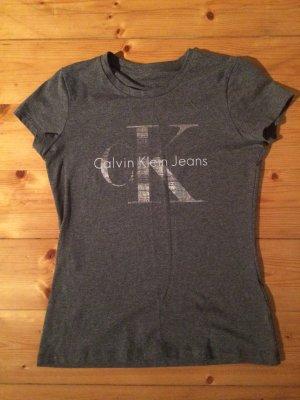 Calvin Klein Jeans T-Shirt Grau Größe S