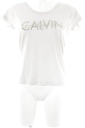 Calvin Klein Jeans Camiseta beige claro estilo sencillo