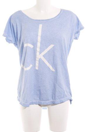 Calvin Klein Jeans T-Shirt kornblumenblau Casual-Look
