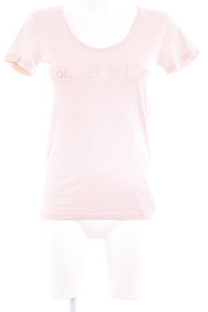 Calvin Klein Jeans T-Shirt rosé-roségoldfarben Casual-Look