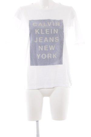 Calvin Klein Jeans T-Shirt Schriftzug gedruckt sportlicher Stil