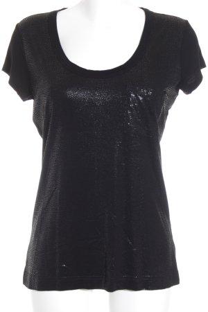 Calvin Klein Jeans T-Shirt schwarz abstrakter Druck Elegant