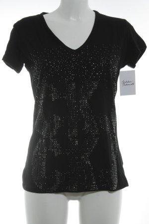 Calvin Klein Jeans T-Shirt schwarz-silberfarben Casual-Look