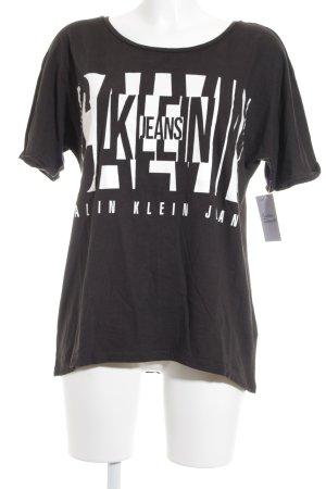 Calvin Klein Jeans T-Shirt schwarz-weiß Casual-Look