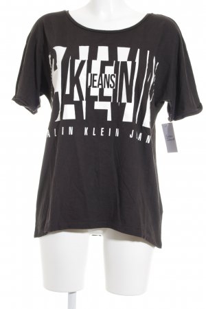 Calvin Klein Jeans Camiseta negro-blanco look casual