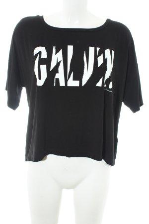 Calvin Klein Jeans T-Shirt schwarz-weiß Schriftzug gedruckt Casual-Look