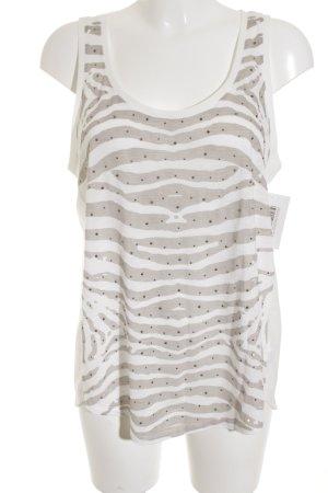 Calvin Klein Jeans Tanktop weiß-beige Animalmuster Casual-Look