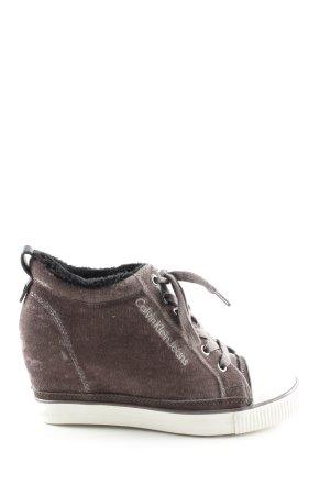 Calvin Klein Jeans Wedge Sneaker braun Casual-Look