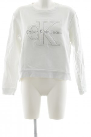 Calvin Klein Jeans Wool Sweater white-silver-colored casual look