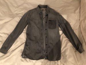 Calvin Klein Blouse en jean gris-gris foncé