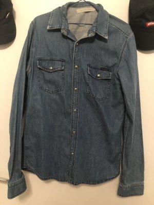 Calvin Klein Jeans Camisa vaquera azul oscuro-azul