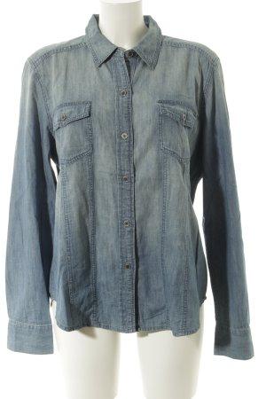 Calvin Klein Jeanshemd blau Casual-Look