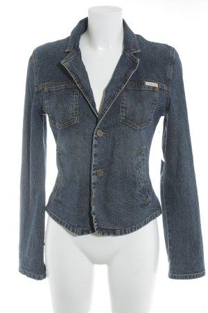 Calvin Klein Spijkerjack blauw straat-mode uitstraling