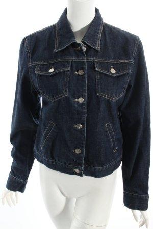 Calvin Klein Jeansjacke dunkelblau Washed-Optik