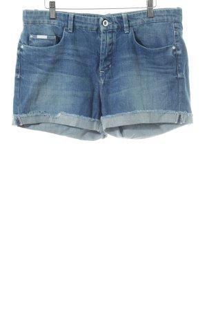 Calvin Klein Pantalón corto de tela vaquera azul look casual