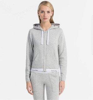 Calvin Klein Chaqueta de tela de sudadera color plata Algodón
