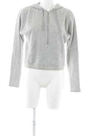 Calvin Klein Kapuzenpullover grau meliert schlichter Stil