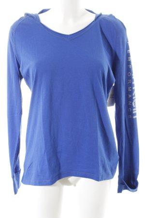 Calvin Klein Camicia con cappuccio blu caratteri stampati stile casual
