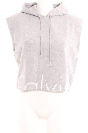 Calvin Klein Shirt met capuchon lichtgrijs-wit gedrukte letters