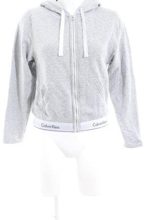Calvin Klein Kapuzensweatshirt hellgrau meliert Casual-Look
