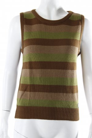 Calvin Klein Khakis Pullunder Streifenmuster braun-grün
