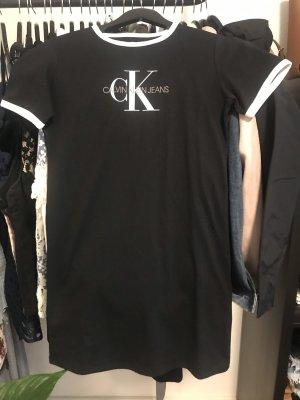 Calvin Klein Jeans Robe pull noir-blanc