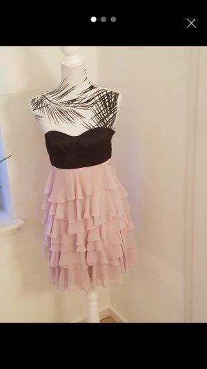 Calvin Klein Off the shoulder jurk zwart-roze