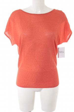 Calvin Klein Kurzarm-Bluse dunkelorange Casual-Look