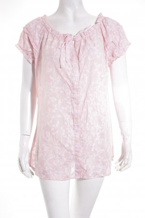 Calvin Klein Kurzarm-Bluse rosa-hellrosa florales Muster Casual-Look